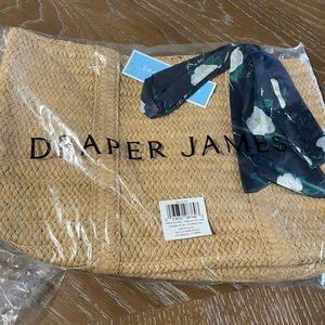 Draper James Straw Bag with scarf  NWT